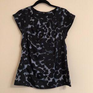 Silky short sleeve blouse